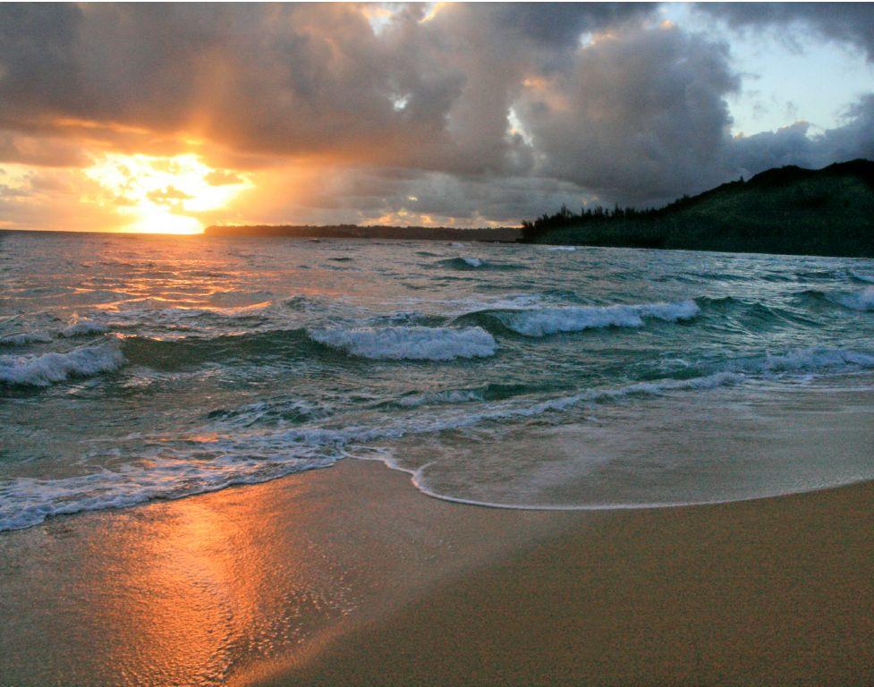 Hawaiian Beach At Sunrise Related Keywords & Suggestions ...
